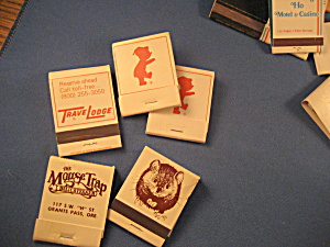 Travel Lodge And The Mouse Trap Deli Matchbooks