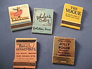 Five Illustrated Matchbooks