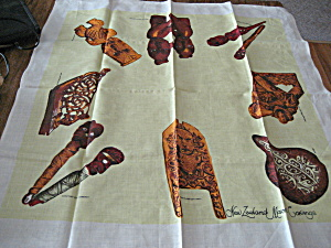 New Zealand Maori Carvingstable Cloth