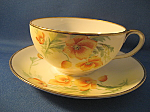 Hand Painted And Signed Nippon Cup And Saucer Set
