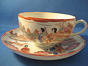 Very Old Geisha Girl Cup And Saucer Set