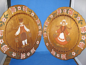 Hand Painted Wooden Plates
