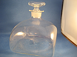 Hand Blown Vintage Glass Liquor Bottle