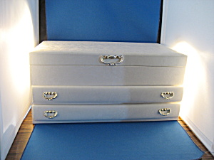 Vintage Large White Jewelry Box