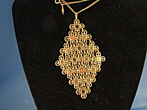 Gold Sara Coventry Necklace