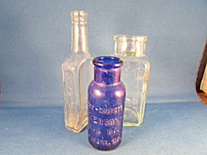 Group Of Three Vintage Bottles