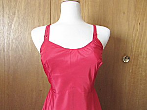 Vintage Red Nylon Slip