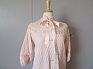 Vintage Pink Quilted Robe