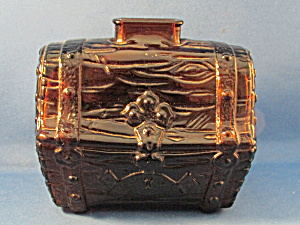 Brown Glass Treasure Chest Bank