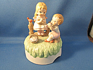 Lefton Young Boy And Girl Music Box