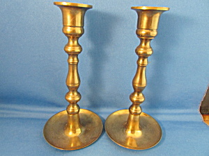 Brass Candle Holders From Japan