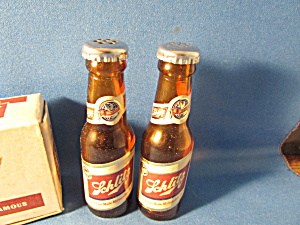 Schlitz Bottle Salt And Pepper Shakers