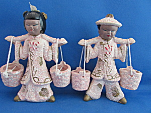 Water Bucket Asian Figurines