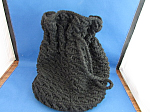 Hand Knitted Draw String Purse
