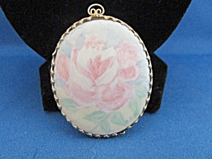 Signed Hand Painted Rose Locket
