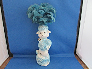Ceramic Duster Holder Poodle