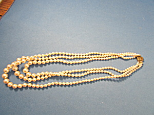 Three Strand Pearl Necklace