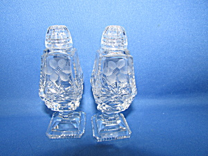 Cut Glass Crystal Salt And Pepper Shakers