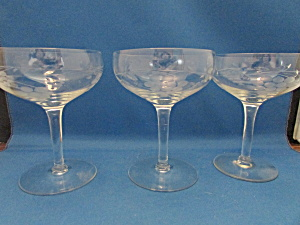 Cut Glass Champagne Glasses