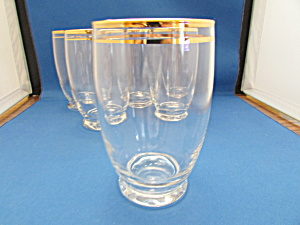 Six Anchor Hocking Highball Cocktail Glasses