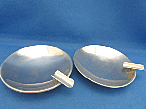 Two Silver Plated Ash Trays