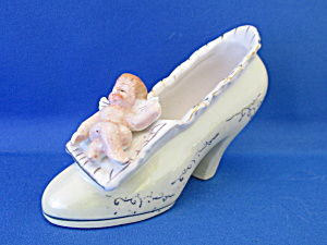Miniature Ceramic High Heel With Angel