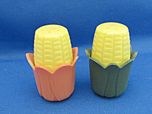 Vintage Corn Salt And Pepper Shakers