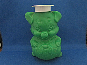 Green Plastic Piggy Bank