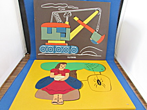 Two Playskool Wooden Puzzles