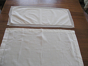 Two Cotton Table Scarfs