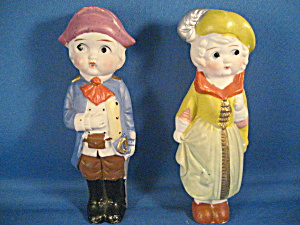 Chalkware Carnival France Couple Prize Figurine