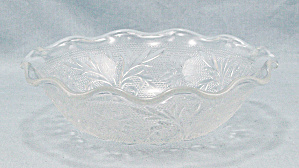 Small Crimped Bowl - Sandwich Clear By Anchor Hocking