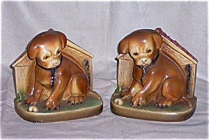 Chalk Dog Bookends