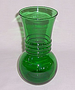 Anchor Hocking - Forest Green Vase - A