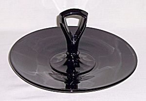 Black - Amethyst Glass Sandwich Tray