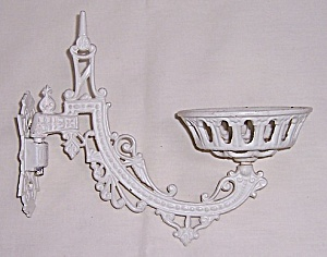 Victorian Lamp Bracket Arm & Mount Plate - Eastlake Style Sconce - Cast Iron