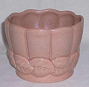 Red Wing - Art Pottery - # 01403 Leaf Vase / Planter/ Jardiniere