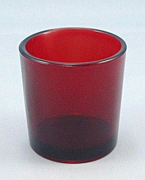 Anchor Hocking Ruby Votive / Toothpick