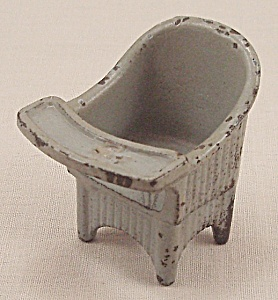 "Kilgore Toy - Cast Iron ""sally Ann"" Nursery Chair - Gray"
