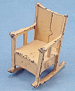 Kilgore, Cast Iron, Dollhouse Furniture, Rocking Chair - A, No. T-2