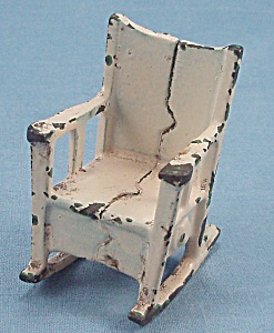 Kilgore, Cast Iron, Dollhouse Furniture, Rocker/ Rocking Chair
