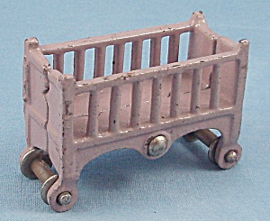 Kilgore - Cast Iron - Dollhouse Furniture - Baby Crib - Lavender