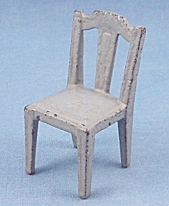 Kilgore, Cast Iron, Dollhouse Furniture, Side Chair, Gray # 15