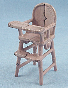 Kilgore Mfg. Co. - Cast Iron - Dollhouse Furniture- High Chair - Lavender