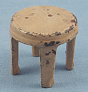 Kilgore, Cast Iron, Dollhouse Furniture, Yellow Stool