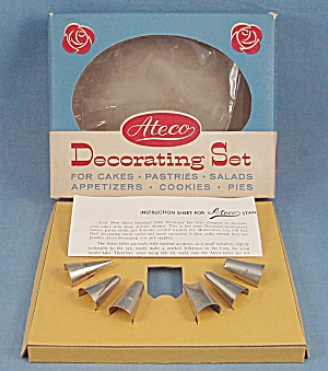 Ateco Cake Decorating Set - Tips, Box, Directions
