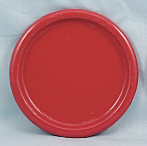 Columbian Enameled / Granite Ware Coaster - Terre Haute, Indiana - Red B