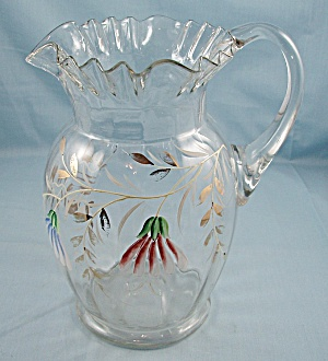 Victorian - Enameled Pitcher, Ruffled