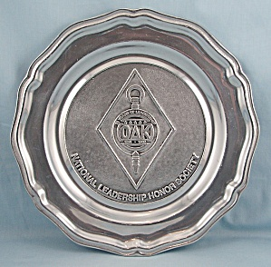 1989 Oak - Pewter Plate - Wilton Pewter - Mount Joy, Pa.