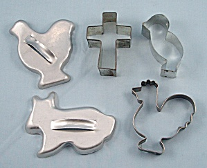Easter Cookie Cutters - Lot Of Five